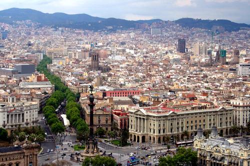 Le Ramblas di Barcellona.
