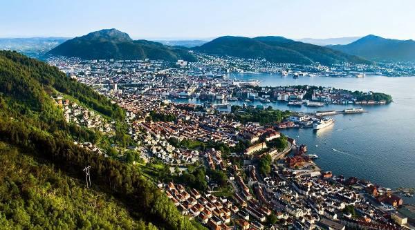 Bergen in Norvegia.