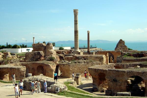 Sito archeologico di Cartagine in Tunisia.