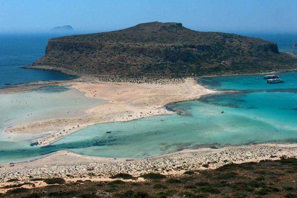 La laguna di Balos a Creta.