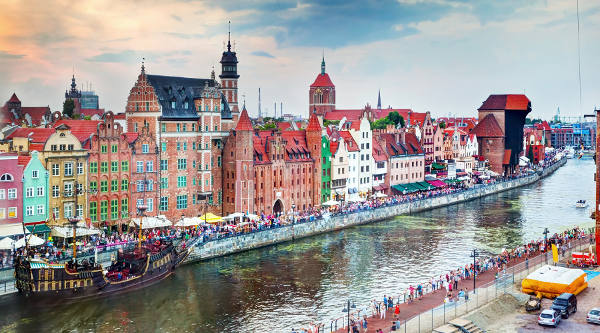 Danzica in Polonia, Gdansk.