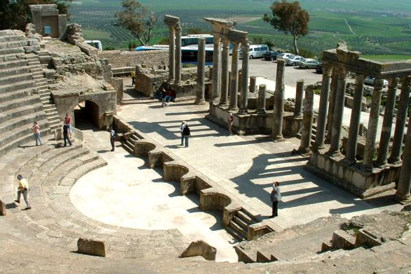 Resti romani a Dougga in Tunisia.