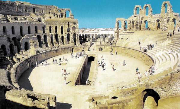 Colosseo di El Jem in Tunisia.