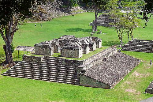 Le rovine di Copan in Honduras.
