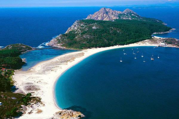 Le isole Cies in Galizia, Spagna.