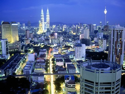 Kuala Lumpur, capitale della Malesia.
