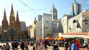 Federation Square a Melbourne.