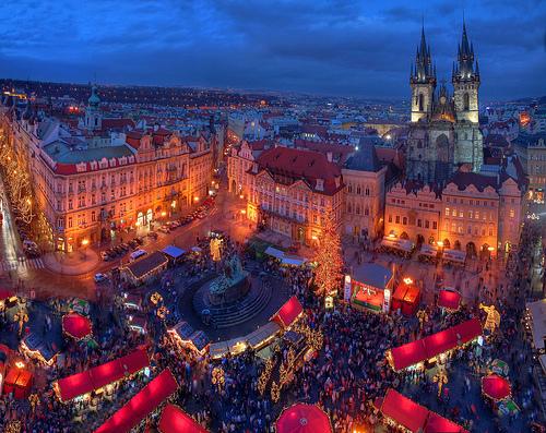 Mercatino natalizio a Praga.
