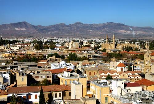 Nicosia, capitale di Cipro.