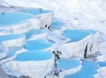 Le piscine naturali delle terme di Pamukkale.
