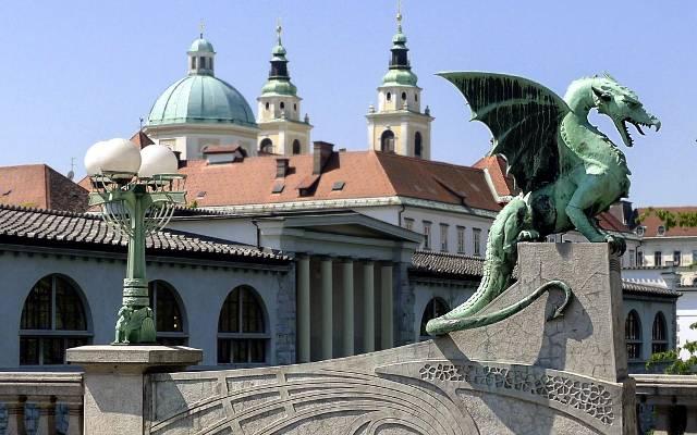 Ponte dei Draghi a Lubiana.