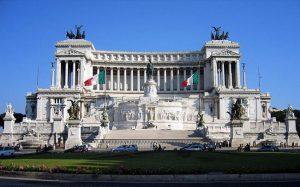 Altare della Patria o Vittoriano a Roma.