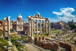 I fori imperiali a Roma.