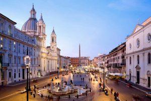 La bellissima Piazza Navona di Roma.