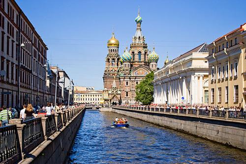 Veduta di San Pietroburgo, in Russia.