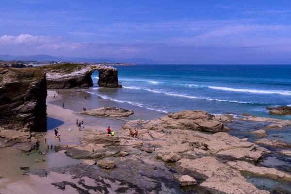 La spiaggia della Cattedrali a Ribadeo.