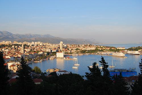 Split (Spalato) sulla costa della Croazia