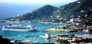 Tortola Isole Vergini, la baia di Road town.