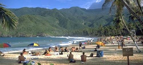 Turismo in Venezuela, una spiaggia venezuelana.
