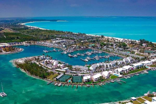 Splendida vista di Abaco, un'isola delle Bahamas per la luna di miele.