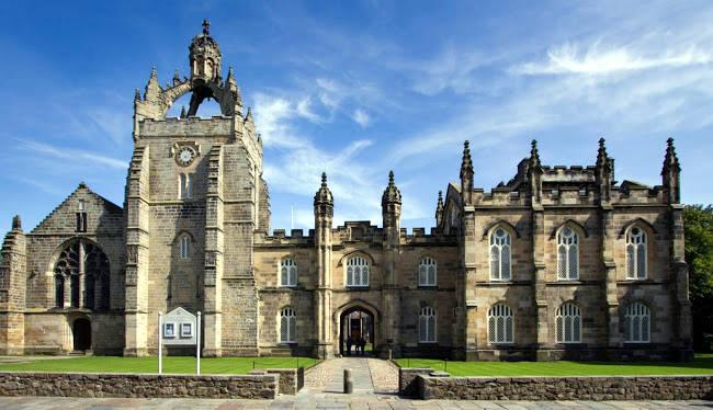 La bellissima King's College Chapel dell'Università di Aberdeen.
