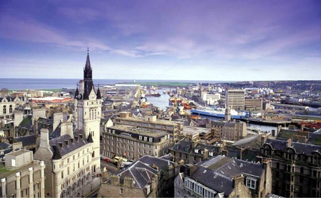 La città di Aberdeen in Scozia.