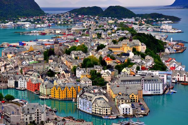 Alesund in Norvegia.