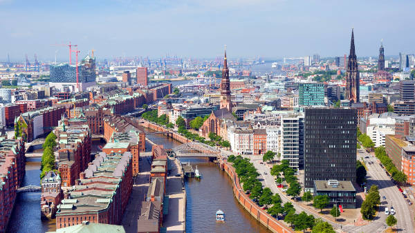La città tedesca di Amburgo.