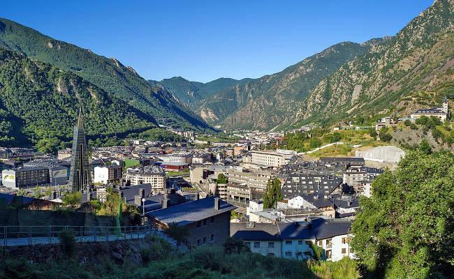Andorra La Vella, capitale del Principato di Andorra.