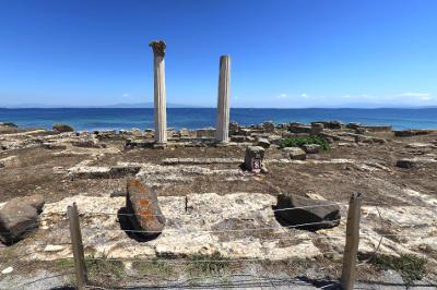 Area archeologica di Tharros in Sardegna.