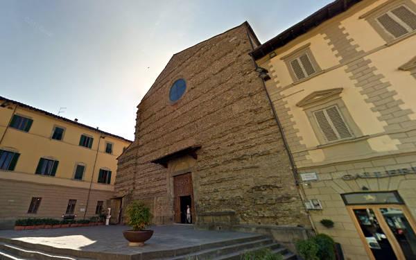 Basilica di San Francesco ad Arezzo, in Toscana.