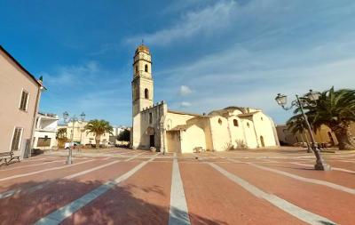 Assemini, vicino Cagliari, la chiesa di San Pietro.