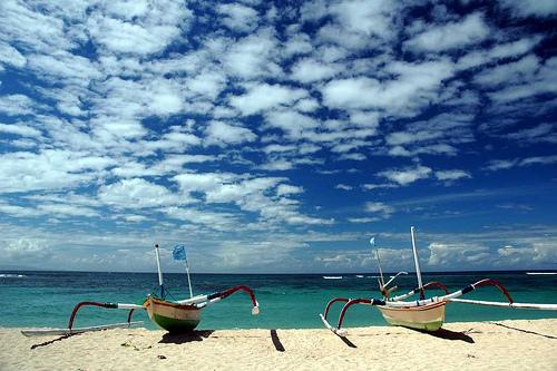 La spiaggia di Nusa Dua a Bali