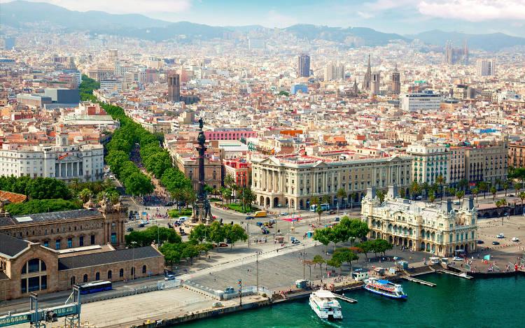 Panorama di Barcellona in Spagna, una delle città da visitare.