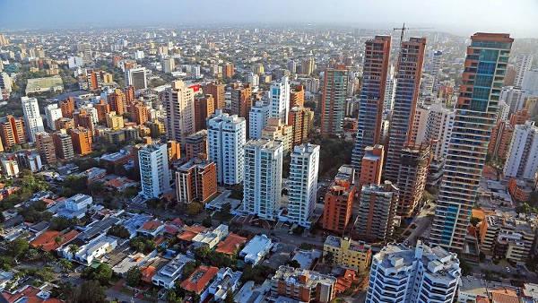La grande città colombiana di Barranquilla.