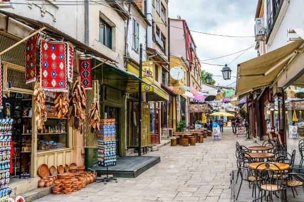 Il bazaar ottomano di Skopje, capitale macedone.