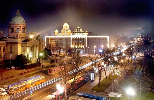 Belgrado, capitale della Serbia.
