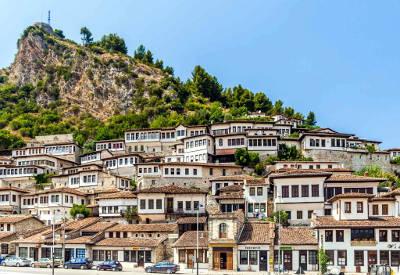 Le meravigliose case di Berat in Albania.