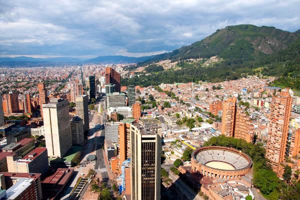 Bogota, la capitale della Colombia.