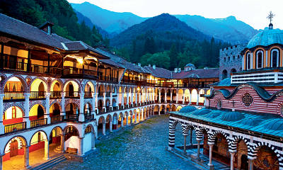 Il monastero di Rila in Bulgaria.