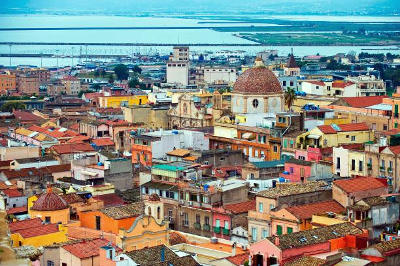 Cagliari in Sardegna.