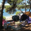 Vacanza in campeggio.