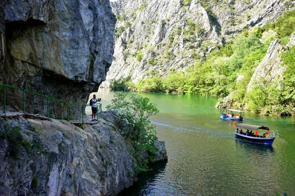 il canyon Matka vicino Skopje.