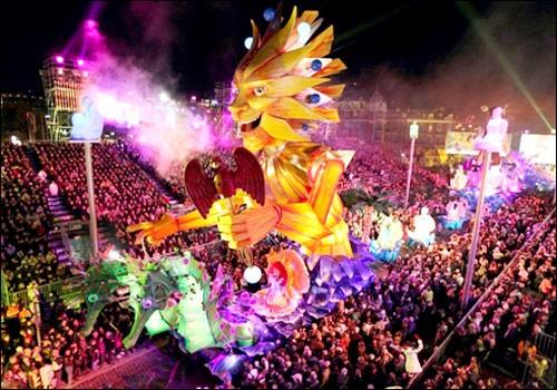 Carnevale a Nizza, in Francia
