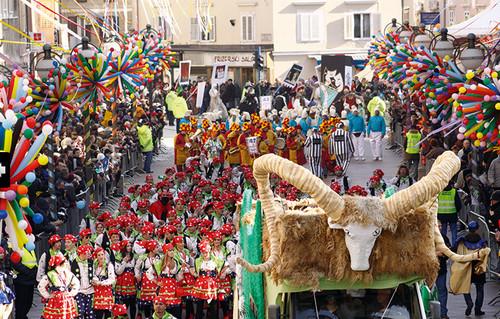 Un momento del Carnevale a Rijeka, Fiume in Croazia