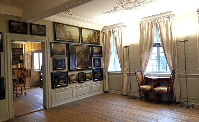 Un particolare dell'interno della Casa Museo di Goethe a Francoforte.