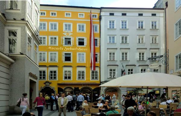 La casa-museo di Mozart a Salisburgo.