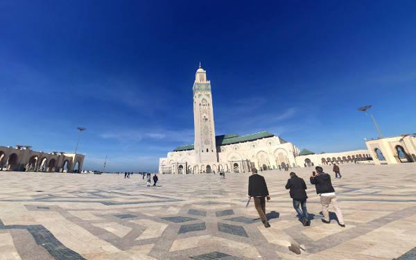 La moschea di Hassan II a Casablanca.