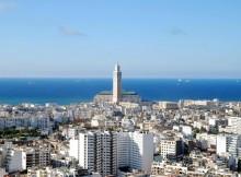 Casablanca in Marocco, sullo sfondo la mosche di Hassan II.