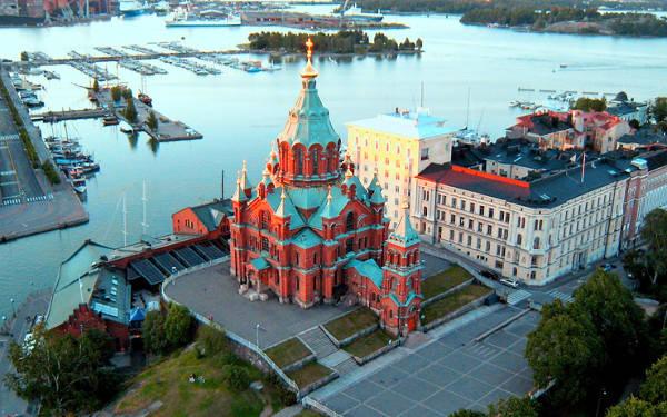 Cattedrale ortodossa Uspenski a Helsinki.